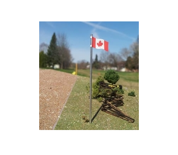 Canadian Flag and Pole